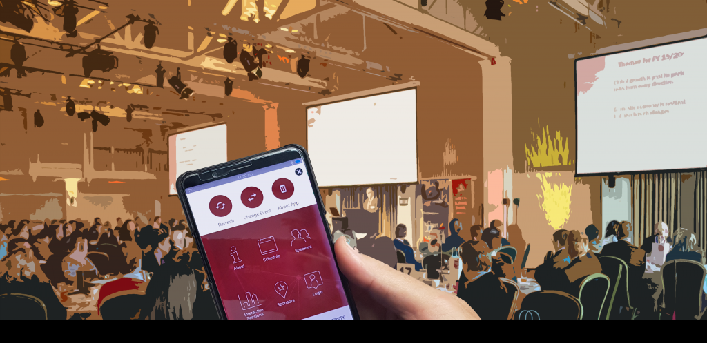 Event Engagement App used at an event